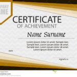 Certificate Of Achievement Template. Horizontal. Stock Within Certificate Of Attainment Template