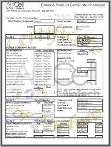 Certificate Of Analysis Template – Anicell Biotech in Certificate Of Analysis Template