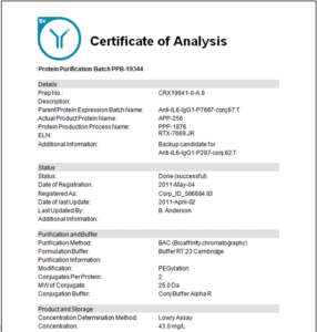 Certificate Of Analysis Template pertaining to Certificate Of Analysis Template