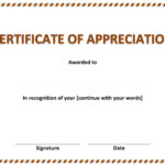 Certificate Of Appreciation For Microsoft Office Certificate Templates Free