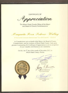 Certificate Of Appreciation-Miami Dade County-2012 | #poet within Felicitation Certificate Template