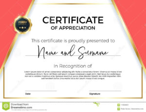 Certificate Of Appreciation Or Achievement With Award Badge intended for Template For Certificate Of Award