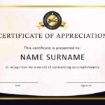 Certificate Of Appreciation Template In Ppt With Army Certificate Of Appreciation Template