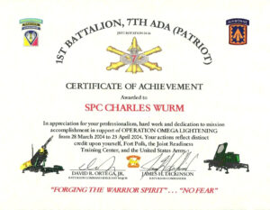 Certificate Of Appreciation Template Us Army intended for Certificate Of Achievement Army Template