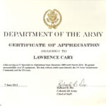 Certificate Of Appreciation Template Us Army With Regard To Retirement Certificate Template