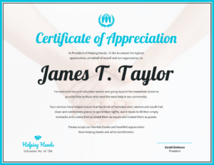 Certificate Of Appreciation Template – Venngage In Thanks Certificate Template
