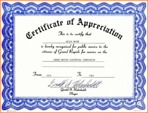 Certificate Of Appreciation Template Word Free Download Regarding Template For Certificate Of Appreciation In Microsoft Word