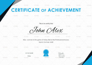 Certificate Of Athletic Achievement Template Pertaining To Athletic Certificate Template