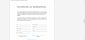 Certificate Of Authenticity Artwork Template | Emetonlineblog with Certificate Of Disposal Template