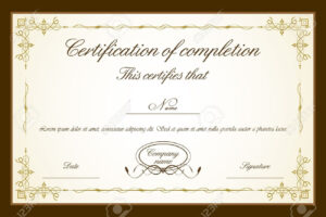 Certificate Of Completion Template Word Free for Free Completion Certificate Templates For Word