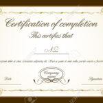 Certificate Of Completion Template Word Free Regarding Certificate Of Completion Free Template Word