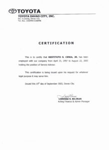 Certificate Of Employment Template | Template Modern Design with Template Of Certificate Of Employment