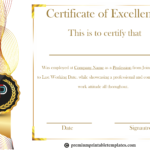 Certificate Of Excellence Template | Certificates In Best Performance Certificate Template