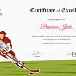 Certificate Of Hockey Performance Template pertaining to Hockey Certificate Templates