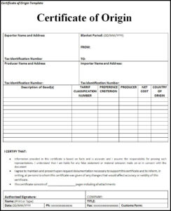 Certificate Of Origin Templates | 2+ Free Printable Ms Word with regard to Certificate Of Manufacture Template