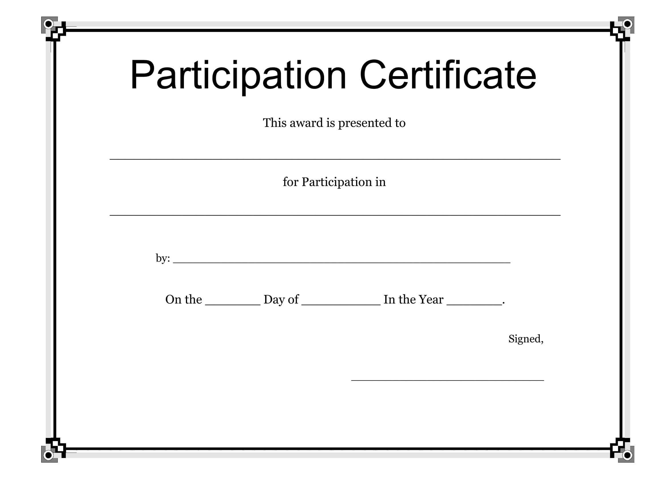 certificate of ownership sample - Ficim Inside Award Certificate Templates Word 2007