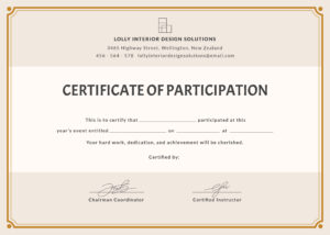 Certificate Of Participation (Cop) | Certificate Of Inside pertaining to Certificate Of Participation Template Word