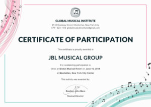 Certificate Of Participation Template Filename | Elsik Blue For Certificate Of Participation Template Ppt
