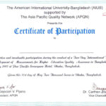 Certificate Of Participation Template Filename | Elsik Blue In Certificate Of Participation Template Ppt