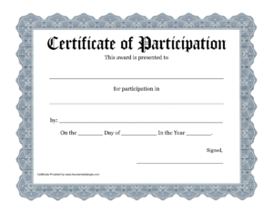 Certificate Of Participation Template Filename | Elsik Blue With Regard To Certificate Of Participation Template Ppt