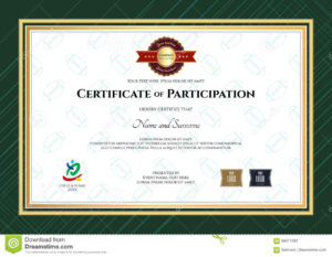Certificate Of Participation Template In Sport Theme With Within Rugby League Certificate Templates
