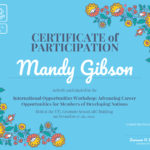 Certificate Of Participation Template – Venngage Pertaining To Certificate Of Participation In Workshop Template
