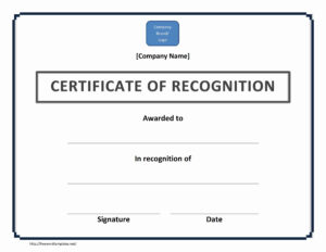 Certificate Of Recognition For Golf Certificate Template Intended For Golf Certificate Templates For Word