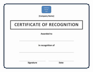 Certificate Of Recognition Template – Ms Word Templates pertaining to Certificate Of Recognition Word Template