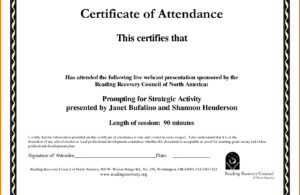 Certificate Of Recognition Template Word Templates In Format throughout Attendance Certificate Template Word