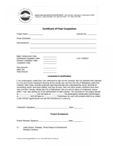 Certificate Of Work Completion Templates 4 – Elsik Blue Cetane regarding Certificate Of Completion Construction Templates