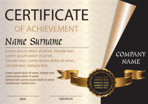 Certificate Or Diploma Template. Award Winner. Winning The with Winner Certificate Template