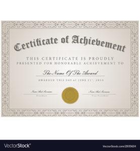 Certificate Template Concept with Commemorative Certificate Template