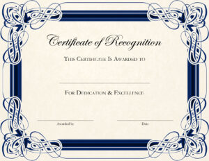 Certificate-Template-Designs-Recognition-Docs | Blankets within Certificate Of Appreciation Template Free Printable