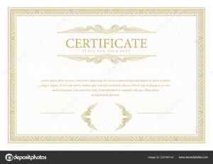Certificate Template Diploma Currency Border Award with regard to Commemorative Certificate Template