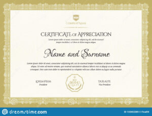 Certificate Template. Diploma Of Modern Design Or Gift regarding Company Gift Certificate Template