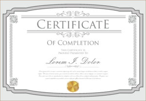 Certificate Template – Download Free Vectors, Clipart intended for Commemorative Certificate Template