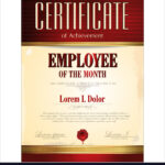 Certificate Template Employee Of The Month Pertaining To Employee Of The Month Certificate Template With Picture