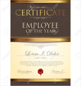 Certificate Template, Employee Of The Year intended for Employee Of The Year Certificate Template Free