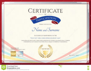 Certificate Template For Achievement, Appreciation Or within Conference Participation Certificate Template