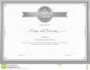 Certificate Template For Achievement, Appreciation Stock within Commemorative Certificate Template