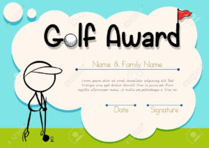 Certificate Template For Golf Award Illustration in Golf Certificate Template Free