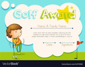Certificate Template For Golf Award throughout Golf Certificate Template Free