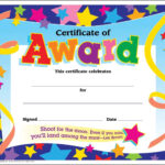 Certificate Template For Kids Free Certificate Templates for Certificate Of Achievement Template For Kids