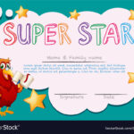 Certificate Template For Super Star With Star Certificate Templates Free