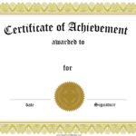 Certificate Template Group With 62+ Items Inside Blank Certificate Templates Free Download