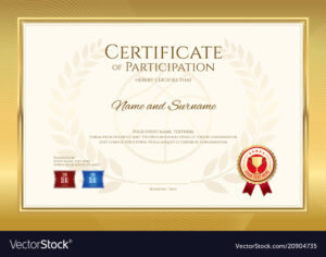 Certificate Template In Basketball Sport Theme Vector Image within Basketball Camp Certificate Template