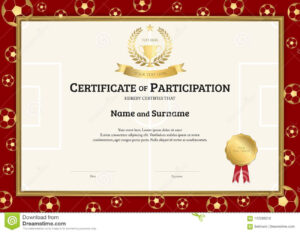 Certificate Template In Football Sport Theme With Soccer With Rugby League Certificate Templates