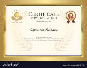 Certificate Template In Tennis Sport Theme With Inside Tennis Gift Certificate Template