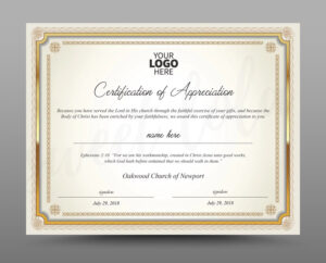 Certificate Template, Instant Download Certificate Of Appreciation –  Editable Ms Word Doc And Photoshop File Included intended for Commemorative Certificate Template