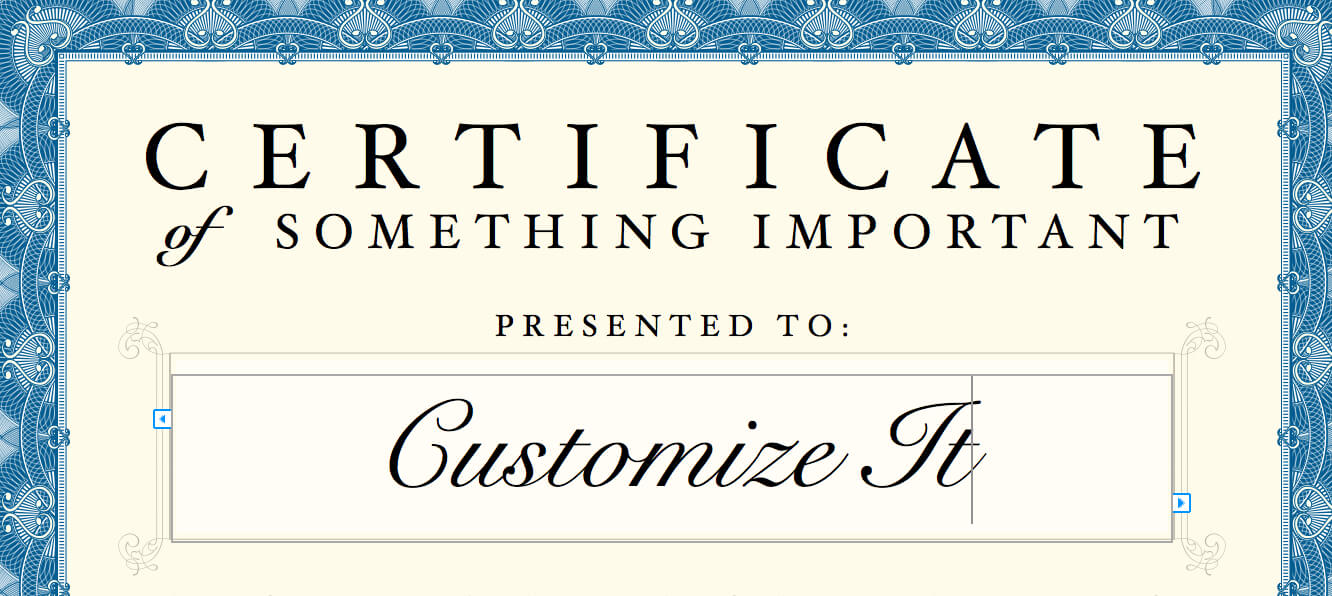 Certificate Template Intended For Certificate Template For Pages